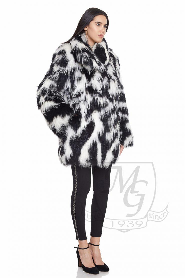 Jacheta finracoon alb negru