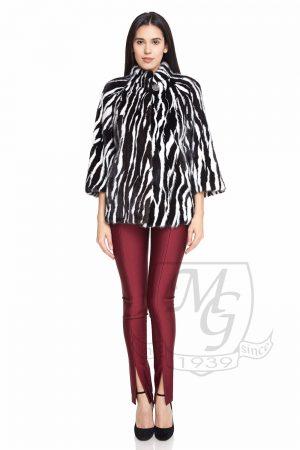 Jacheta vizon alb negru