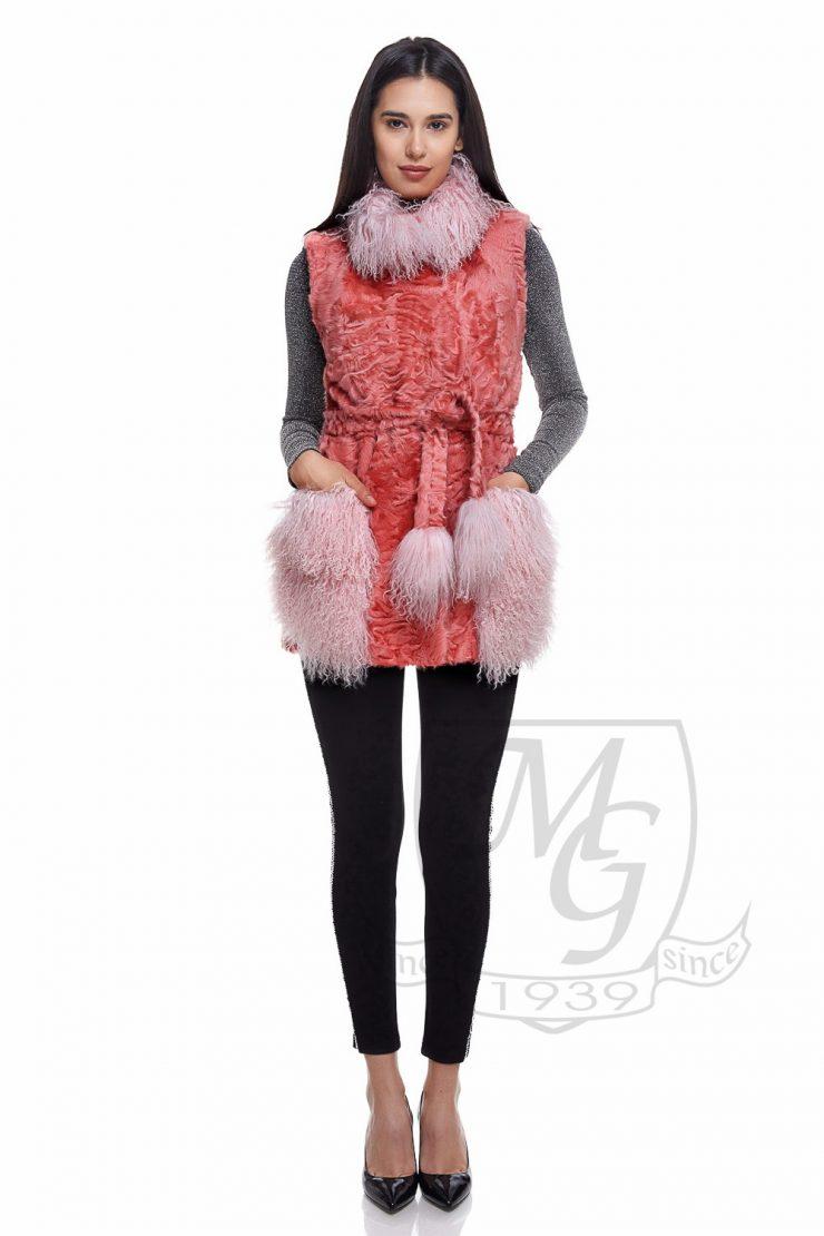 Vesta silklamb pink