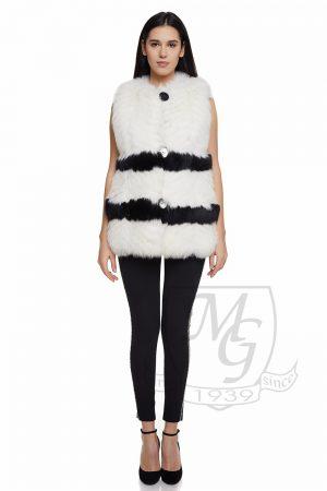 Vesta vulpe alb-negru