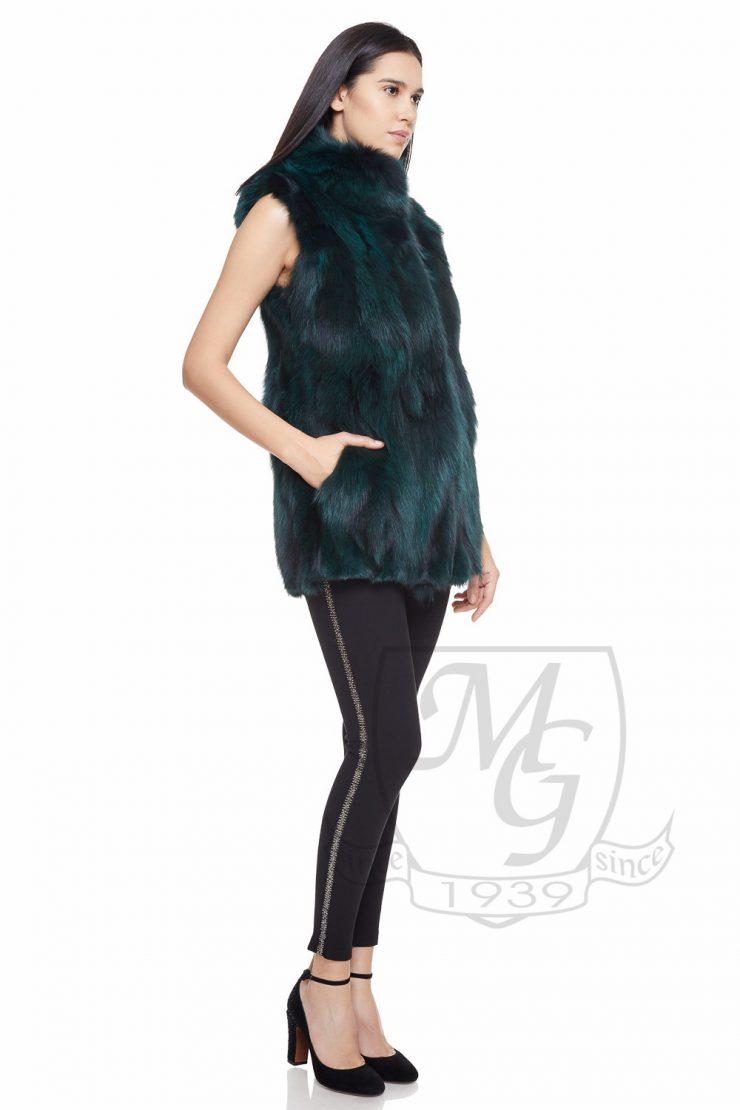 Vesta vulpe vopsita verde