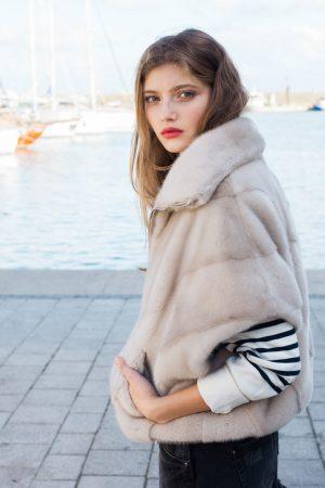 Jacheta din vizon perla