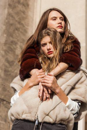 Jacheta din vizon perla model Irene si haina din blana de nurca scalet model 5611