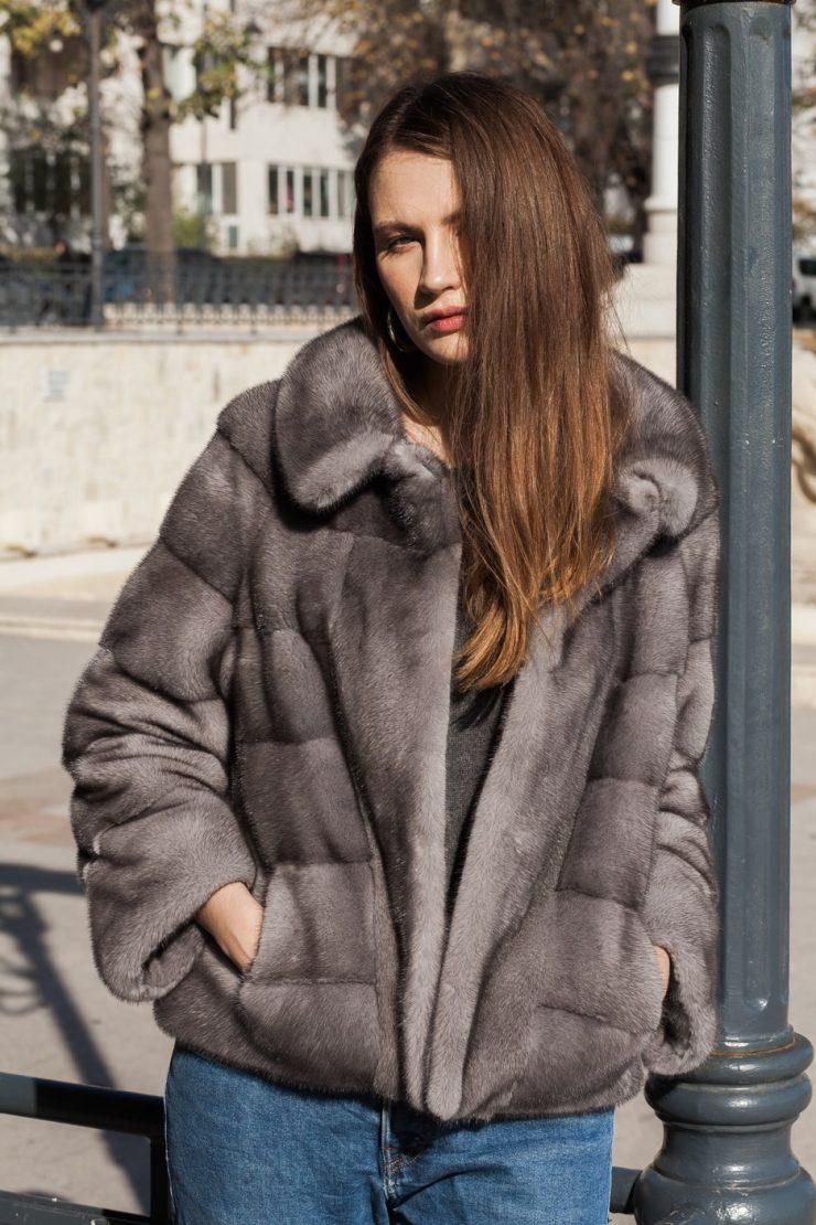 Jacheta din vizon scandinav blueiris