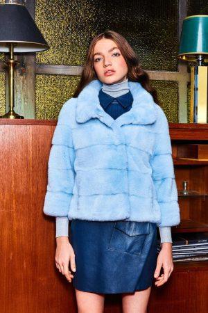 Jacheta din blana de vizon