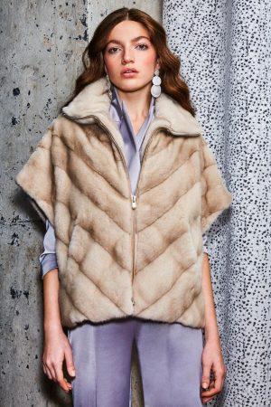 Jacheta din blana de vizon (nurca)