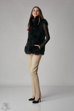 Vesta din blana de vulpe neagra model 5741